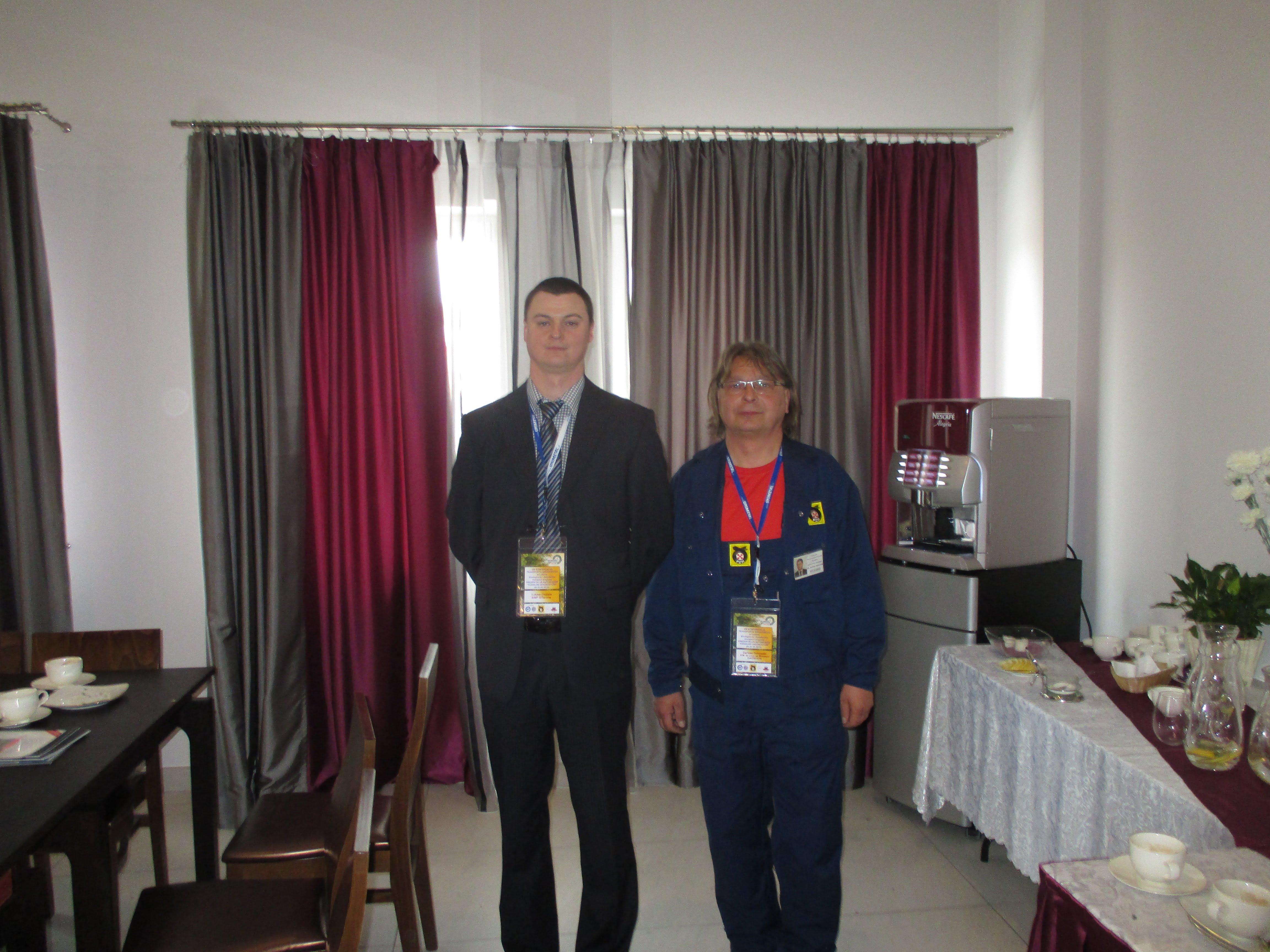 I Mistrz Diagnostyki - Kol. Łukasz Ciepiela z SIMP Tarnów (z lewej strony) oraz Kol. Dariusz Ostrowski z PZM-ot OZDG Wrocław (z prawej strony) po oficjalnym ogłoszeniu wyników.