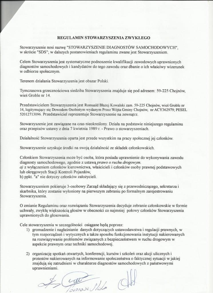 Scan regulamin SDS-u