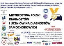 Mistrzostwa Polski diagnostów i uczniów 25-26.10.2019 w Legnicy